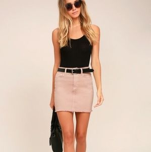 Lulus Pop and Lock Denim Skirt